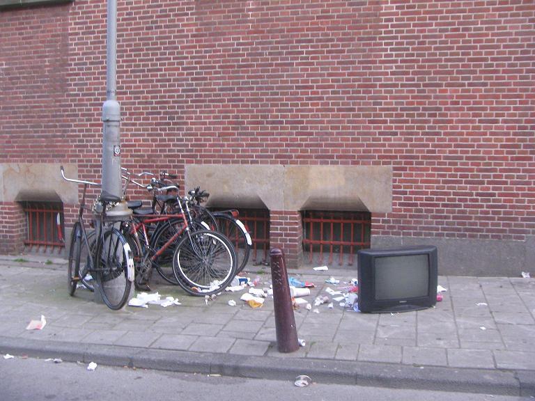 Television TV garbage Amsterdam
