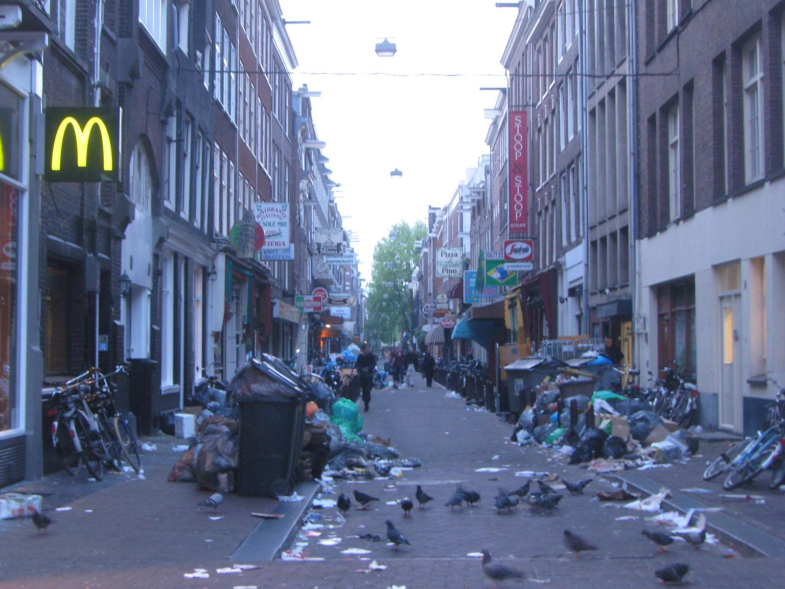 Garbage strike in Amsterdam Holland