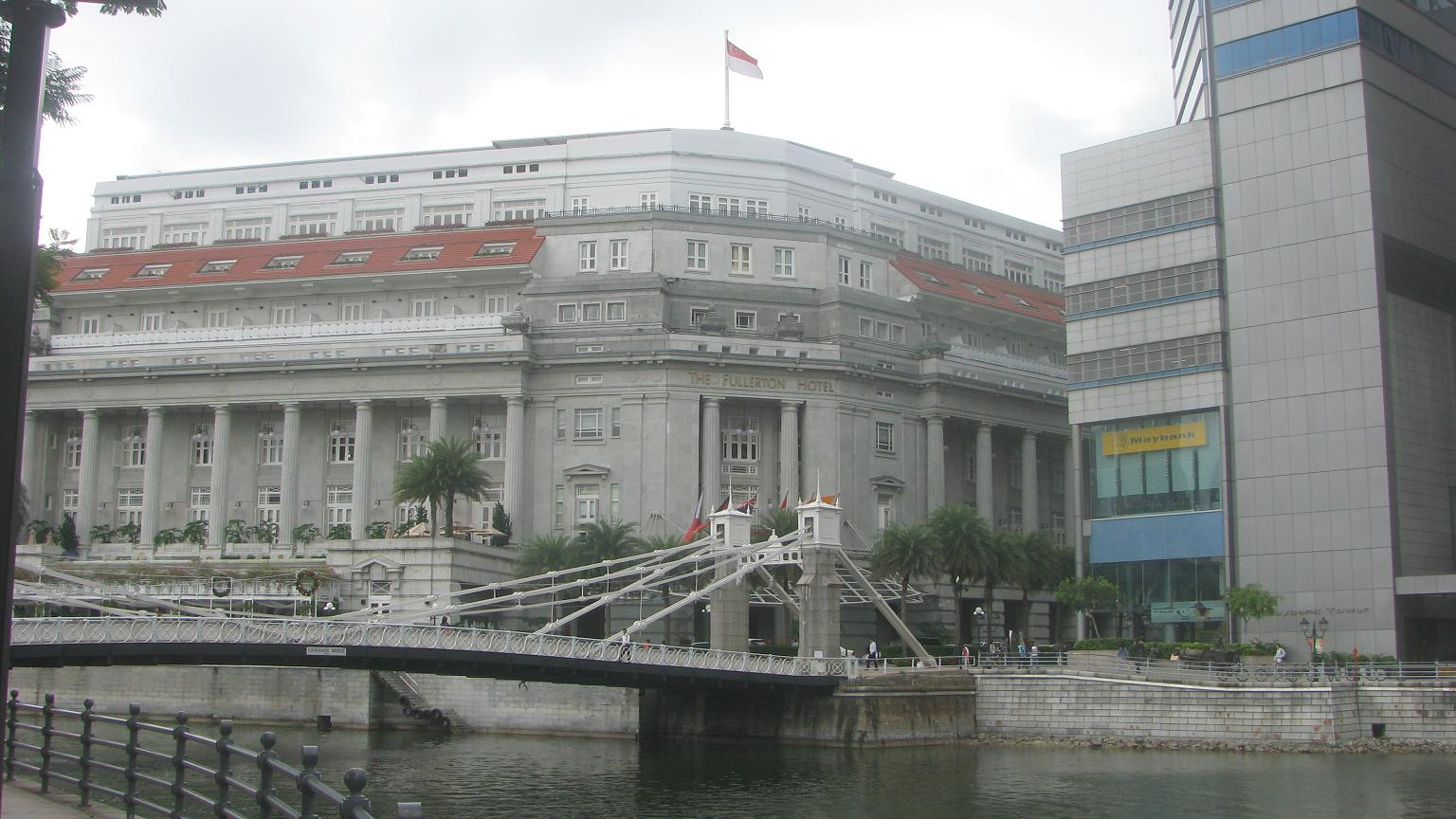 Fullerton Hotel, downtown Singapore - Luxury
