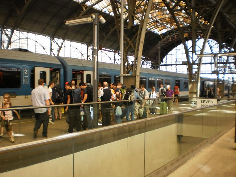prague praha train station czech republic