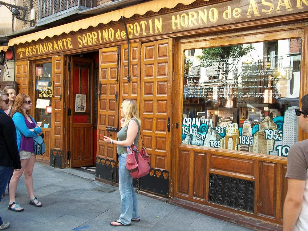 Madrid Spain Oldest Restaurant Sobrino de Botin Horno De Asan