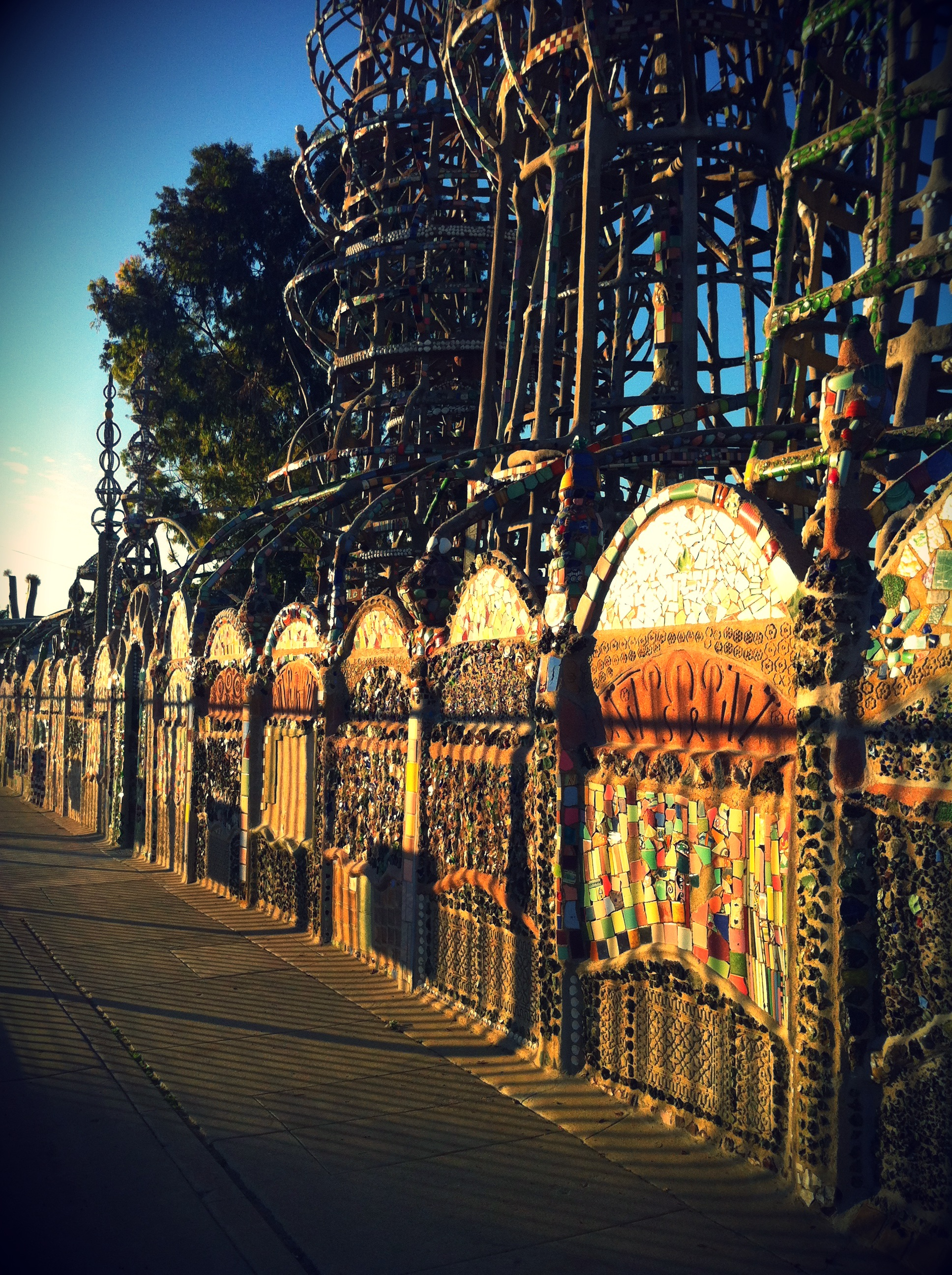A Visit to South Central: Roscoe's & Watts Towers