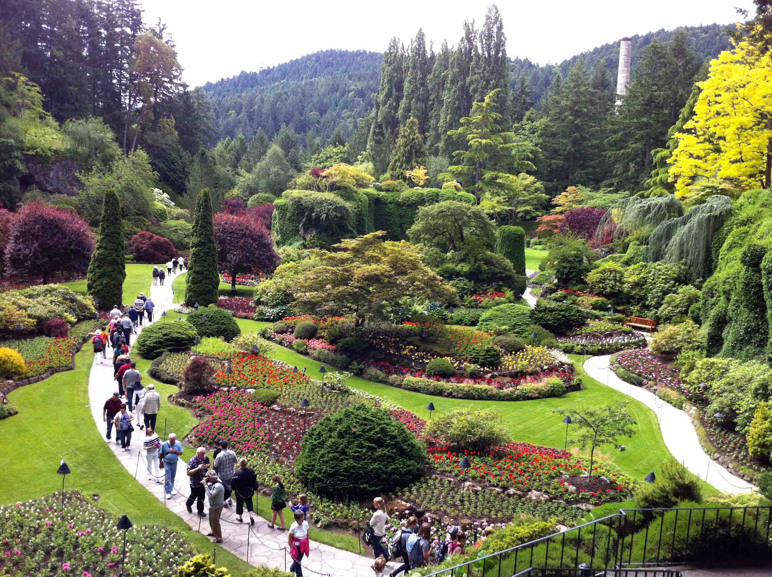 Enjoying The Butchart Gardens and High Tea at The Empress