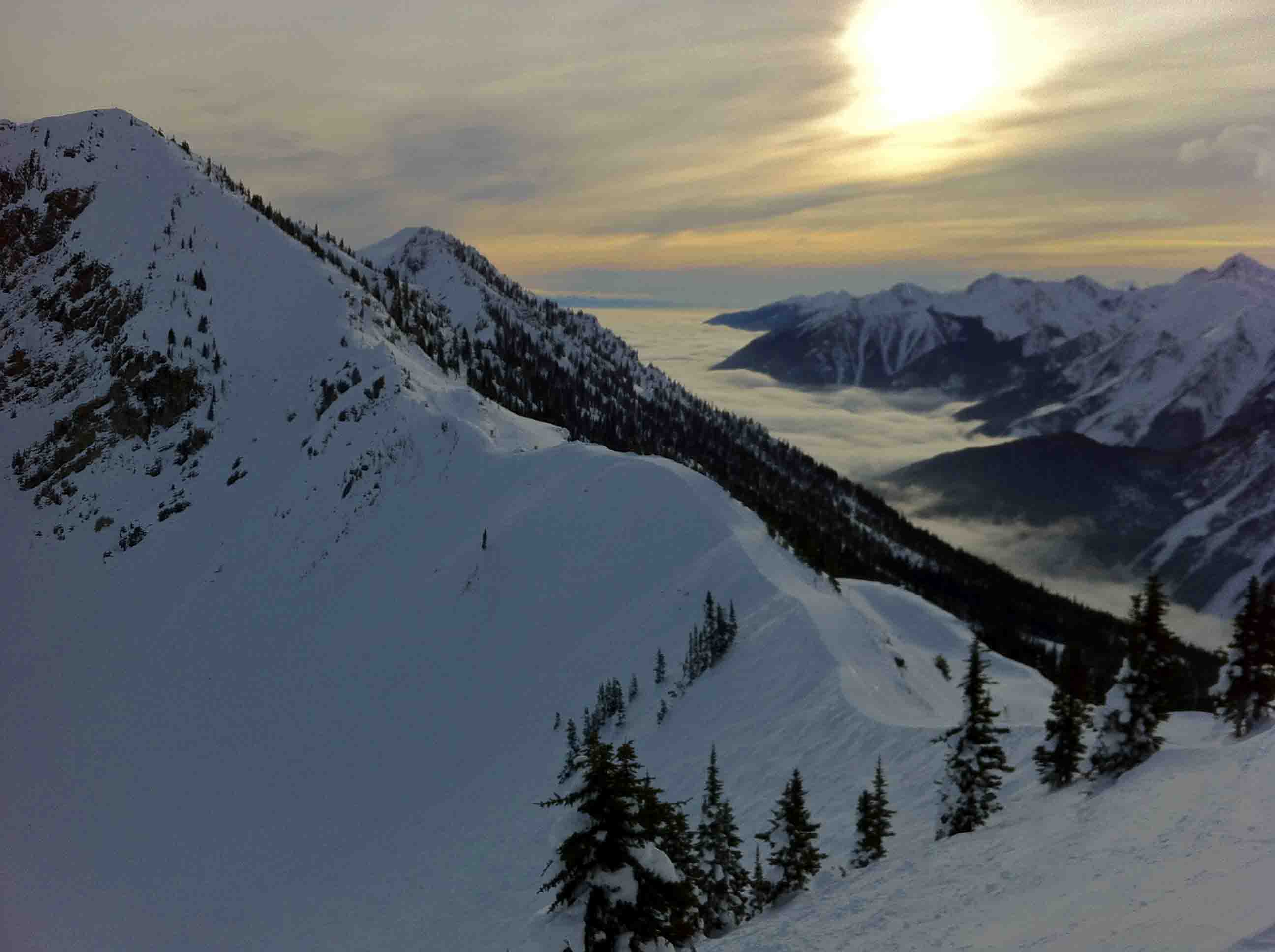 Skiing Kicking Horse Resort in Golden, British Columbia