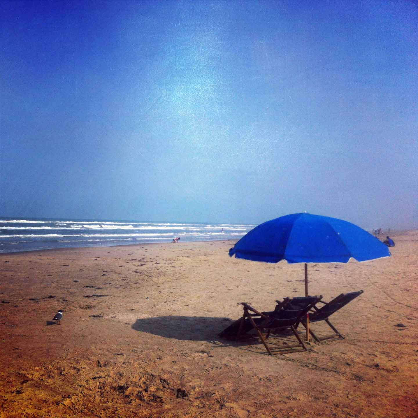 Relaxing Day on South Padre Island, Texas