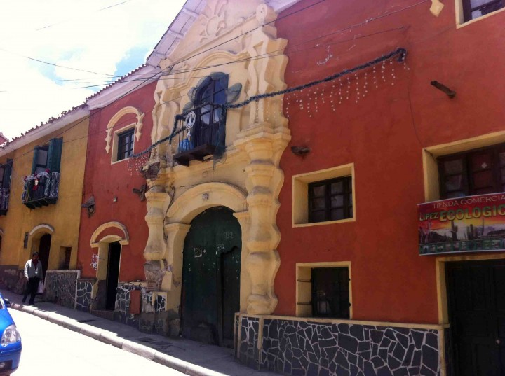 red_orange_building_potosi_bolivia