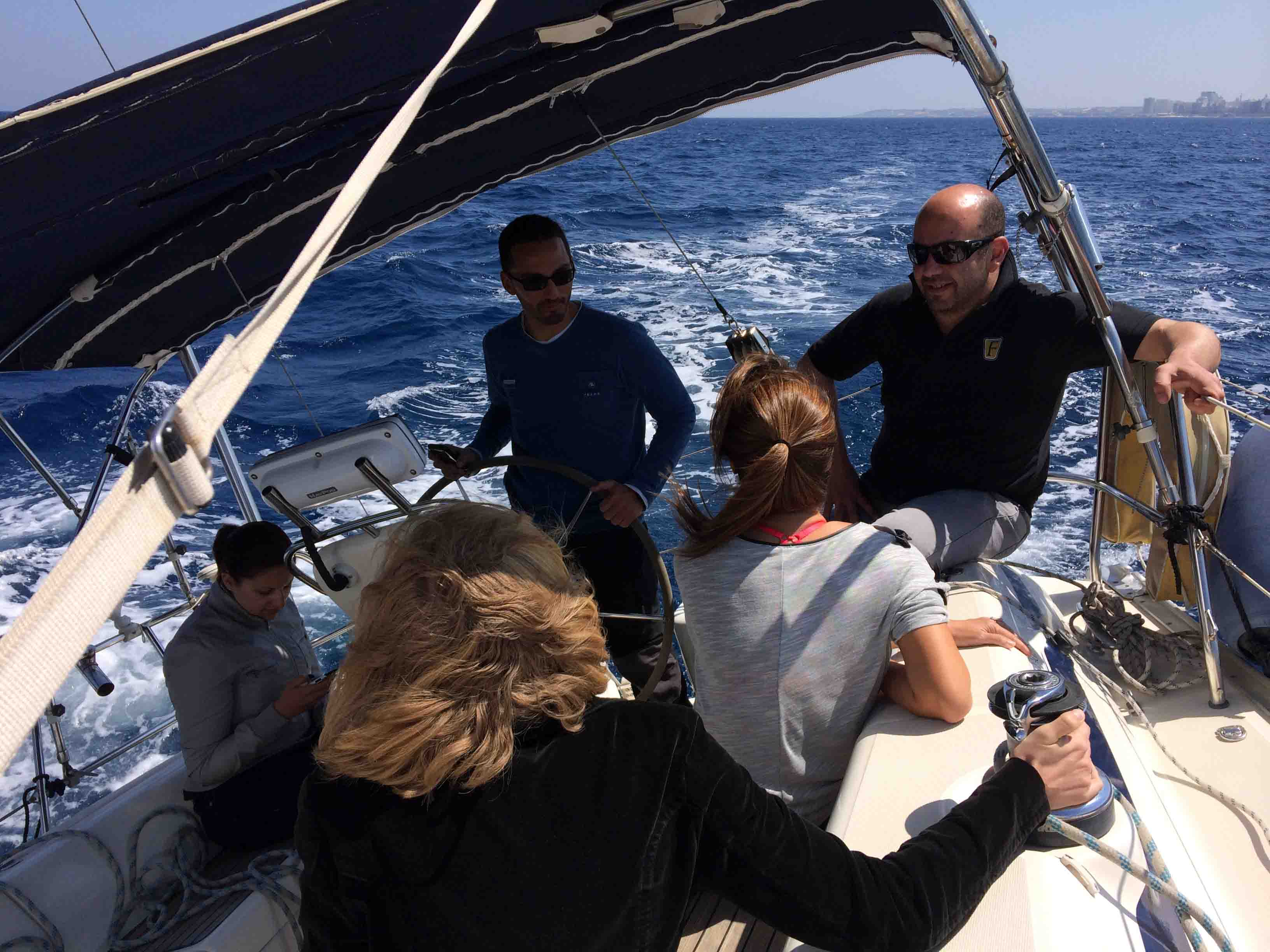 Afternoon on a Sailing Yacht Charter Off Malta