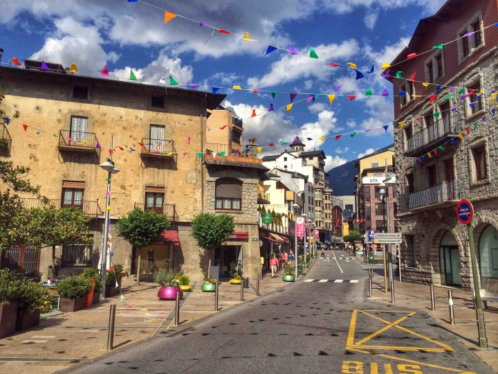 Lovely Andorra La Vella In The Pyrenees