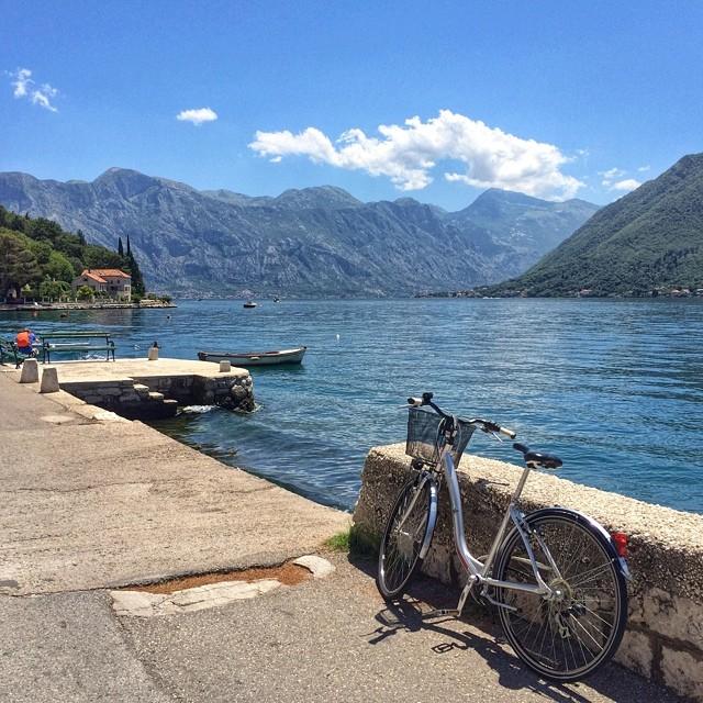 Video: Biking Along Bay of Kotor in Perast, Montenegro