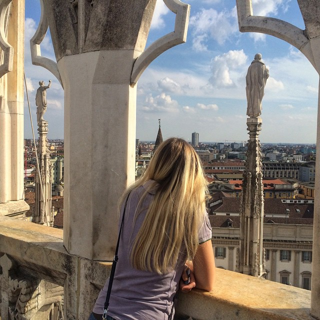 Rooftop of the Duomo in Milan Vlog