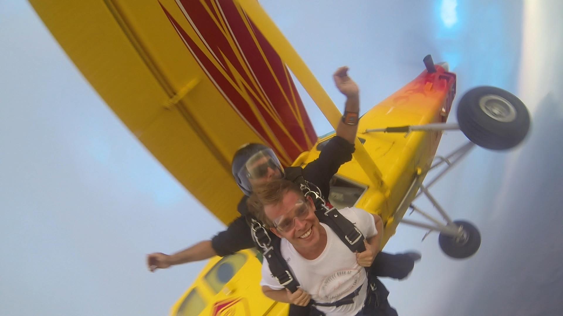 Skydiving in Jordan at the Dead Sea