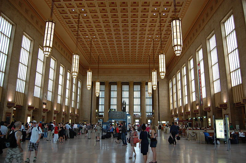 Train stations like Philadelphia's 30th Street Station make touring the east coast of America without a car easy as can be