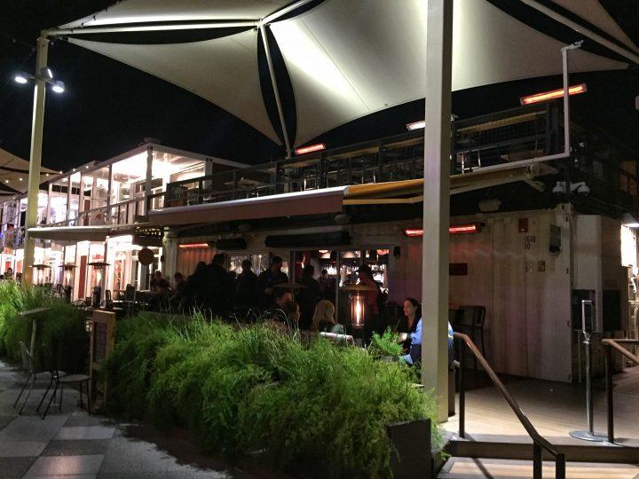 bar inside container park las vegas