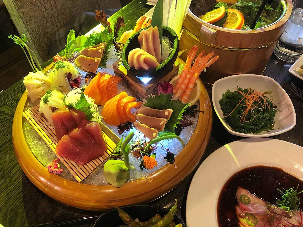 Sake Rok Las Vegas sushi platter - best sushi in las vegas