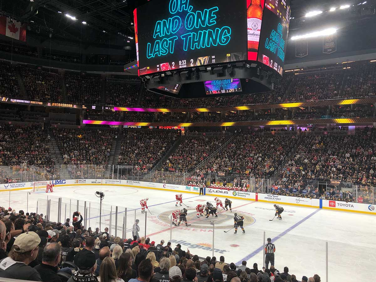 Las Vegas Golden Knights game in T-Mobile Arena