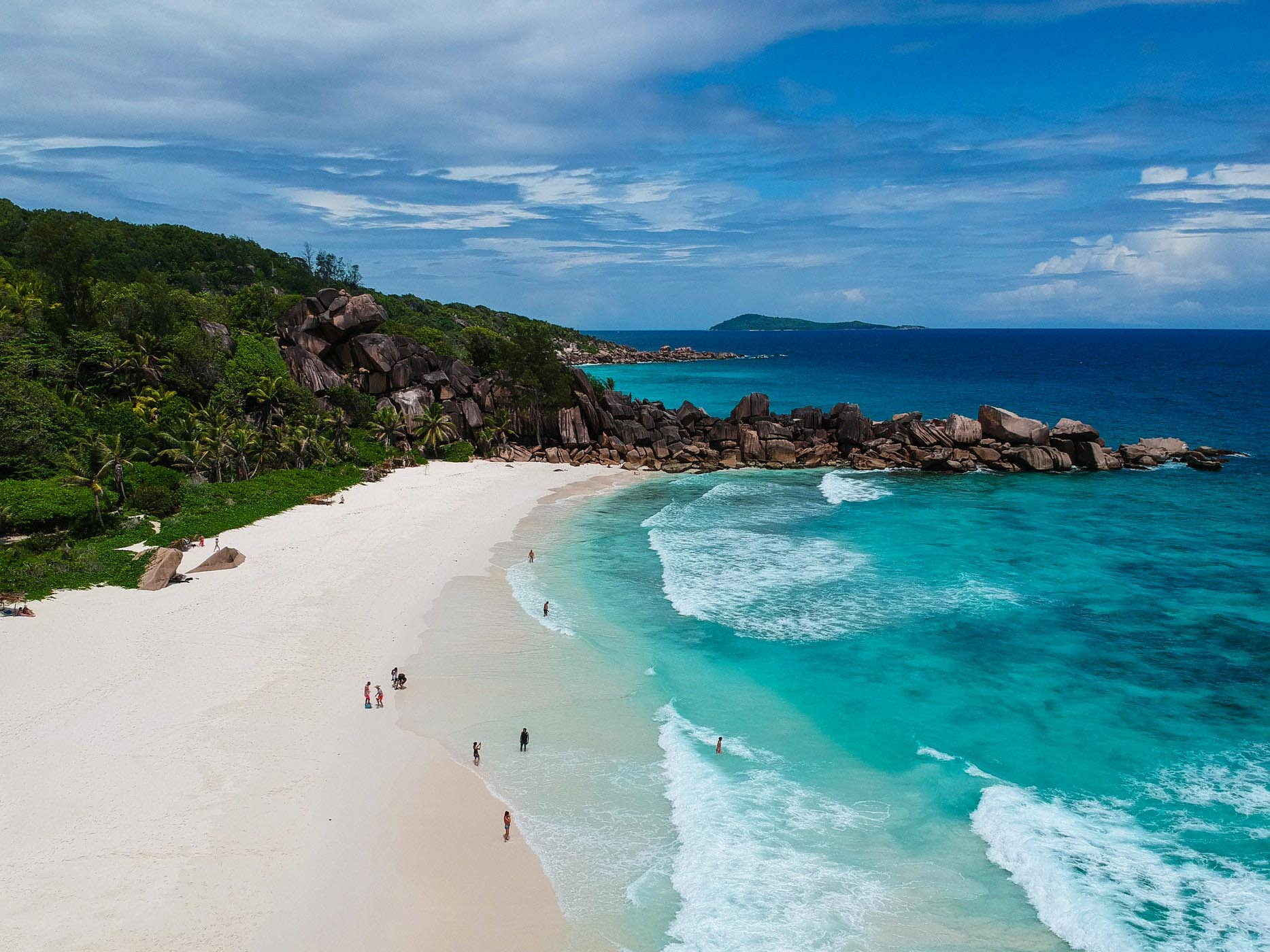 Seychelles is a tropical island paradise