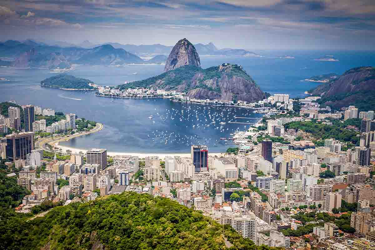 Rio de Janiero - the most popular city in Brazil and once the capital.