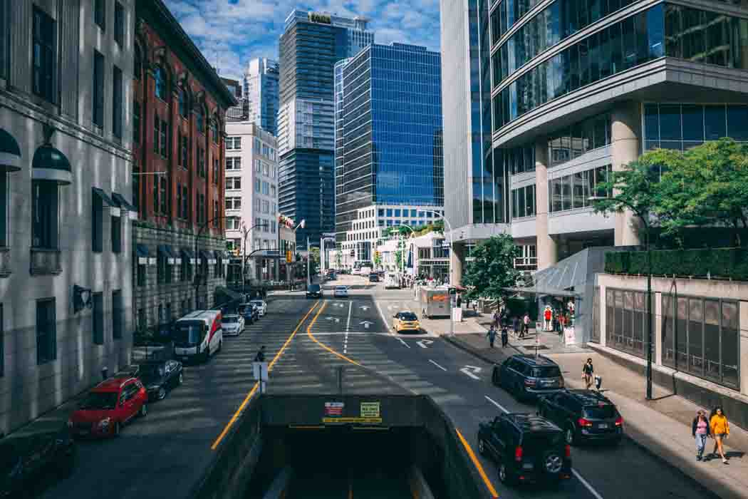 Streets of downtown Vancouver